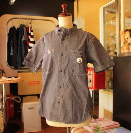 Bossa-kun Denim short sleeve shirts